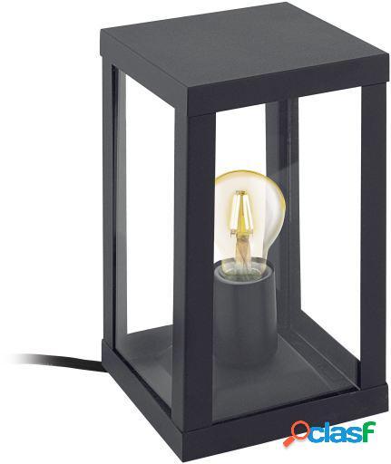 Wellindal Lámpara Sobremuro 1 luz E27 Negro y Claro Amonte