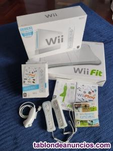 Consola wii + wii fit, con 2 mandos y juegos