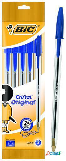Bic Bolsa 5 Boligrafos Cristal Azul