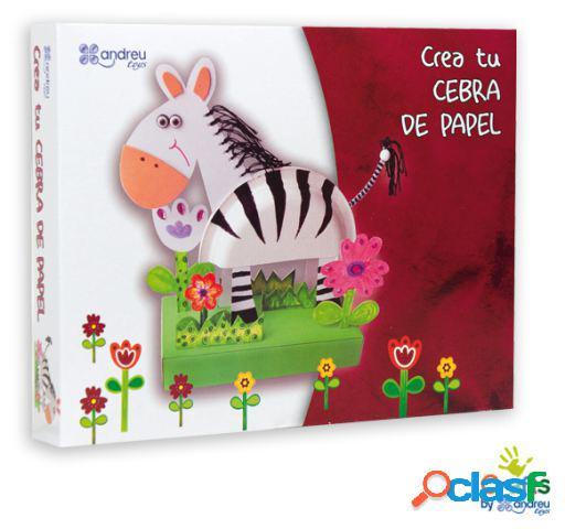 Crafts by Andreu Toys Crea Tu Cebra De Papel