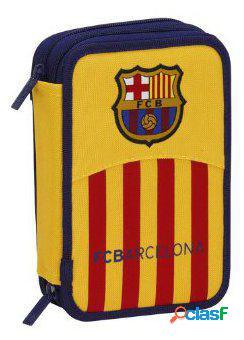 F.C. Barcelona Plumier Doble Pequeño 34 Piezas F.C.