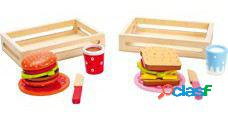 Legler Hamburguesa y sándwich, set de 2