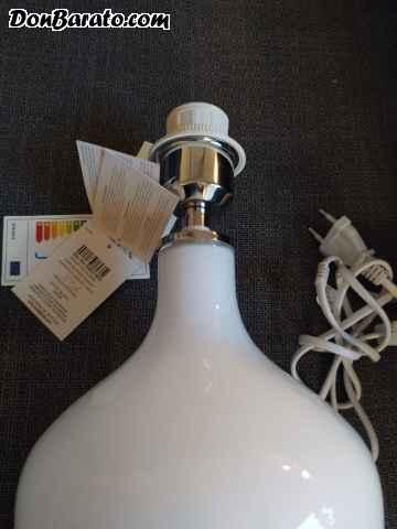 Lámpara sobremesa blanca de laura ashley