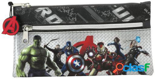 Safta Estuche Dos Cremalleras Avengers