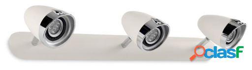 Wellindal Aplique Vespa 3xGu10 6W Blanco Roto y Cromo