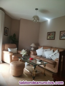 Vendo sofa+ sillon de piel