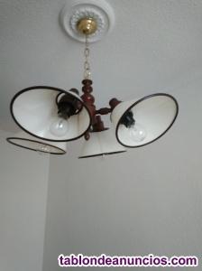 Lámpara de techo de madera