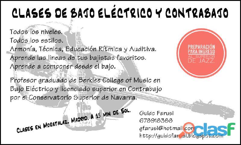 CLASES DE BAJO ELÉCTRICO Y CONTRABAJO EN MADRID
