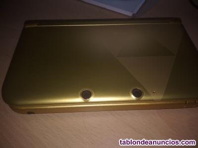Nintendo 3ds xl dorada modificada