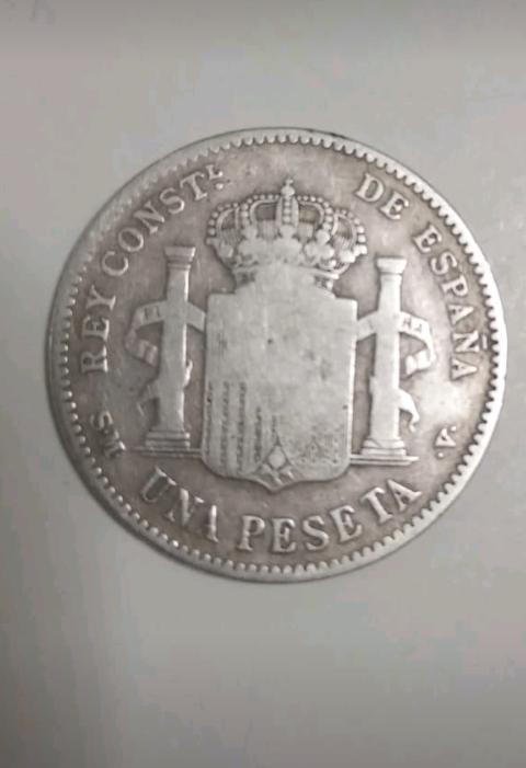 Moneda 1 peseta plata
