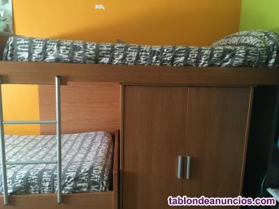 Dos camas de 90 y un armario