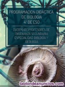 Vendo programación didáctica biología y geología