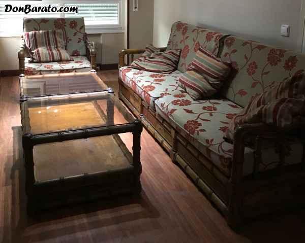 Conjunto de salon en madera maciza