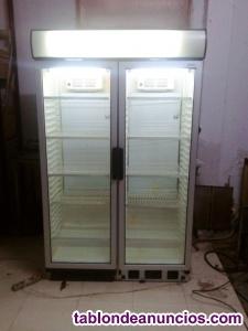 Nevera refrigerada 2 puertas doble