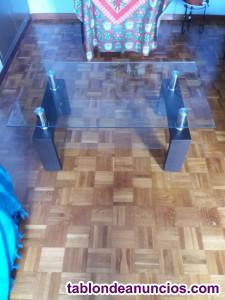 Vendo mesa de centro de cristal