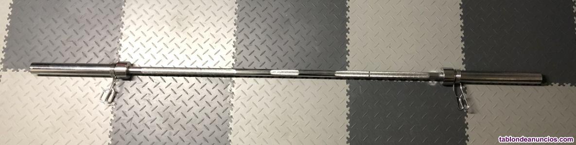 Vendo barra de musculación olímpica de 2,2 m