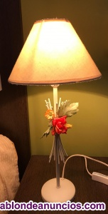 2 lamparas de forja de sobremesa
