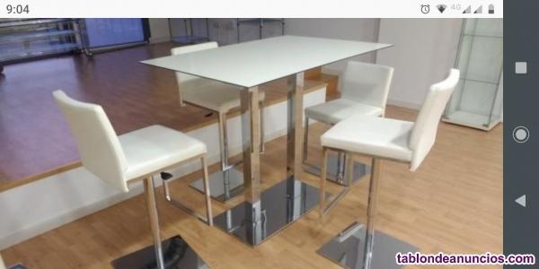 Conjunto mesa + 4 taburetes modernos