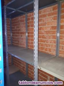3 estanterías metálicas