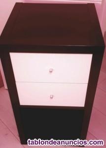 Mueble de dos cajones negro