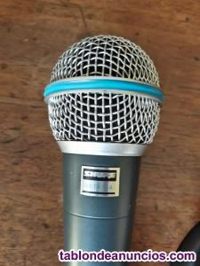 """Shure beta 58a micrófono vocal """"original"""". Buen estado."""