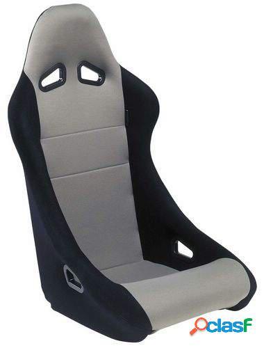 Asiento deportivo Baquet negro/gris