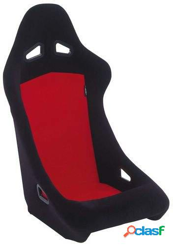 Asiento deportivo Baquet negro/rojo