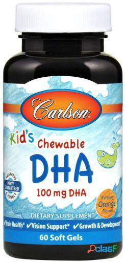 Carlson Labs DHA para Niños 100 mg 60 Perlas masticables
