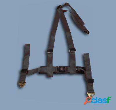 Cinturon de seguridad de 3 puntos negro homologado