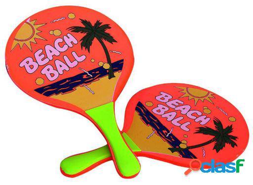 Cladellas Juego 2 Palas Madera Beach Ball