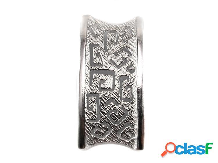 Colgante greca rectangular de plata de ley
