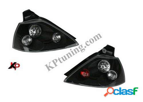 Focos traseros negros de LEDs para Renault Megane II 02-
