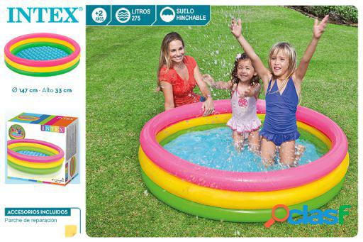 Intex Piscina Hinchable 3 Aros Colores