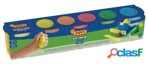 Jovi Pack 5 Bote Pasta Soft Dough fluorescentes