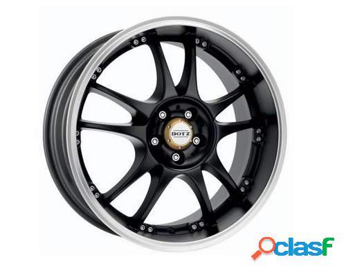 Kit 4 Llantas Dotz Brands Hatch Dark negras en 8 x 17