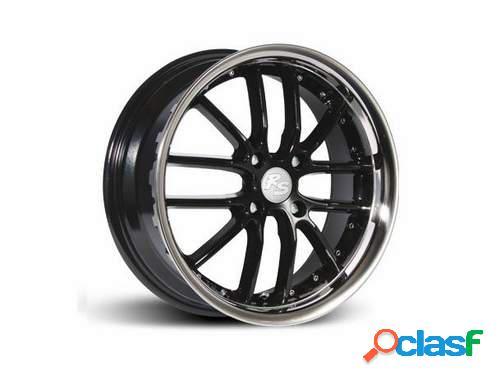 Kit 4 Llantas RS JK4 negras en 7 x 17 pulgadas