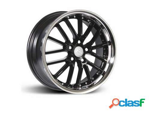 Kit 4 Llantas RS JK5 negras en 7,5 x 17 pulgadas