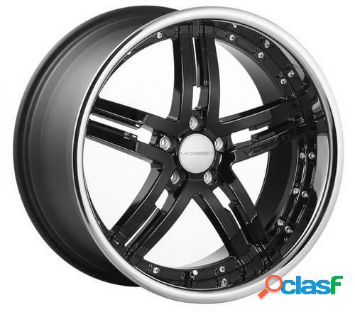 Kit 4 llantas Vossen Wheels vvs077 negro brillante en 11 x