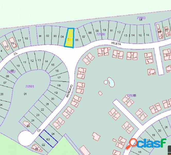 PARCELA 500 M2. FR. 12314 PARA CONSTRUCCION DE CHALET
