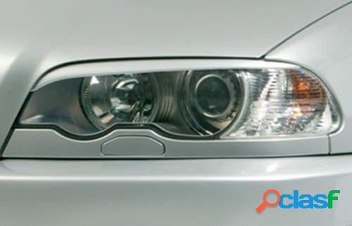 Pestañas focos delanteros BMW 3 E46 Cpe/Cbr -03 (ABS)