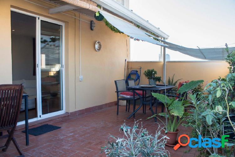 Piso ático en venta de 66m2 útiles con 2 terrazas por 47m2