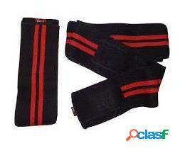 Quamtrax Nutrition Knee Wrap Elastic & Cotton Black / Red