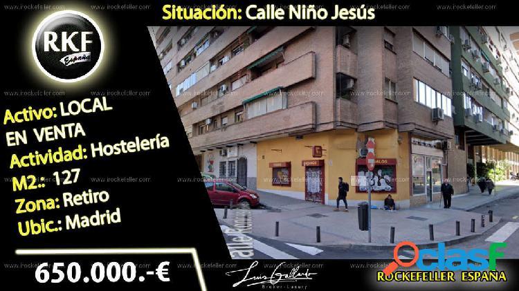 Venta Local comercial - Niño Jesús, Retiro, Madrid