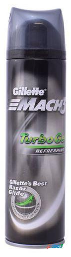 Gillette Gel de Afeitar Mach 3 Turbo Anti Fricción Plus