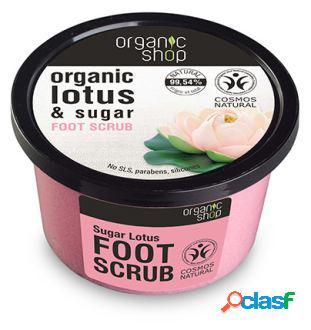 Organic Shop Exfoliante para los Pies de Loto de Azúcar 250