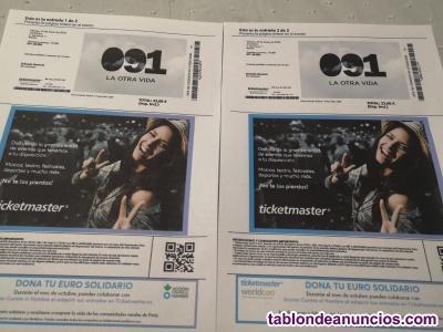 Ofrezco 2 entradas para el concierto de 091 en madrid el