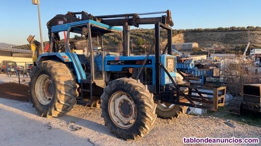 Tractor ebro  con grua