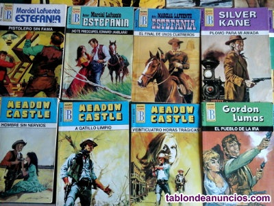 20 novelas de bolsillo del oeste.