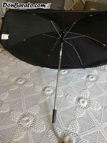 Sombrilla nueva para cochecito bebe negra