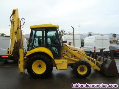 Retro excavadora mixta new holland lb 110.